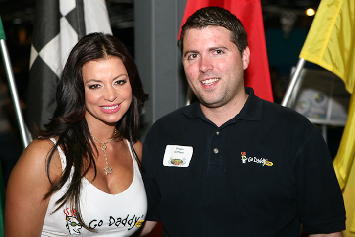 Me with the original GoDaddy girl, Candice Michelle