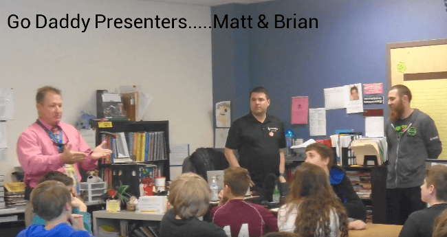 Talking about programming with our second class, 7th and 8th graders